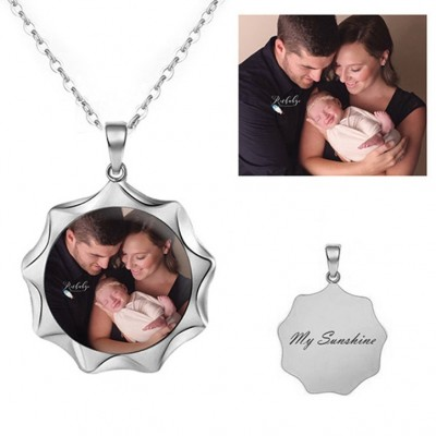 925 Argento sterling Personalized Foto Collana