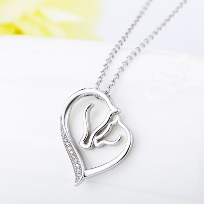 Maternal Amore 925 Argento sterling Zircon Collana