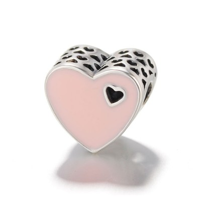 Rosa Cuore Fascino Sterling Argento