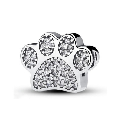 Carino Paw Fascino Cuore Sterling Argento