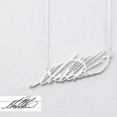 925 Argento sterling Personalized Signature Nome Collana