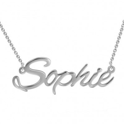925 Argento sterling Personalized Nome Collana