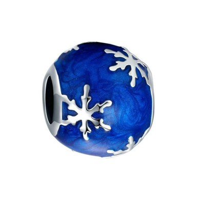 Fiocco neve Blu Fascino Sterling Argento