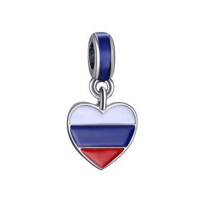 Russian Bandiera Fascino Sterling Argento
