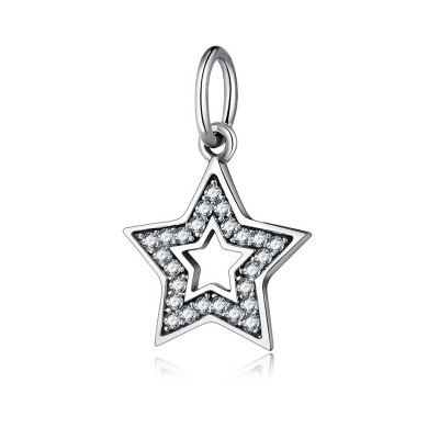 Due stelle Fascino Sterling Argento